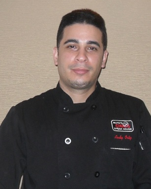 Chef Andy Ortiz at Ruth's Chris Restaurant in Boca Raton, FL